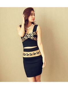 The New European Leg Of US Nightclub Ladies Sexy Bandage Dress Suit Jacket + Skirt Dress Black JY15041417.http://www.clothing-dropship.com