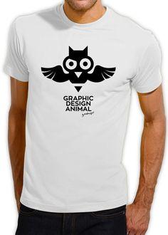 Graphic Design Animal - Owl T-shirt (Α) Owl T Shirt, Graphic Design, Mens Tops, Stuff To Buy, Shirts, Animals, Fashion, Owl Shirt, Moda