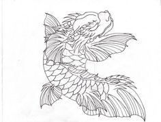 Falcor the Koi Dragon Linework by Lucky-Cat-Tattoo on DeviantArt Dragon Tattoo Drawing, Koi Dragon Tattoo, Tattoo Drawings, Tattoos, Lucky Cat Tattoo, Deviantart, Cats, Animals, Tatuajes