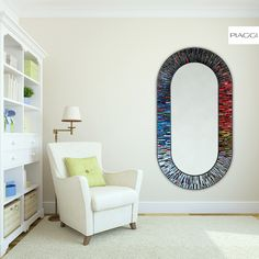 Stadium Multicolour - a crown jewel among contemporary mirrors designed by Piaggi. Inspired by modern architecture and flashing colours of a spinning roulette. Handmade Mirrors, Mirrors For Sale, Glass Mirrors, Mosaic Glass, Modern Architecture, Modern Design, House Design, Colours, Contemporary