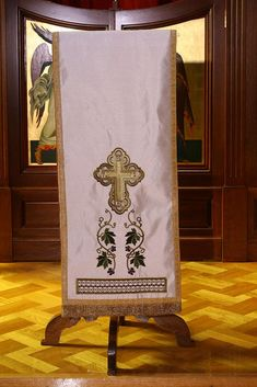 Lectern Covers Goldwork, Bible Covers, Spiritual Gifts, Jesus Christ, Flag, Art, Linens, Ideas, Prayer Corner