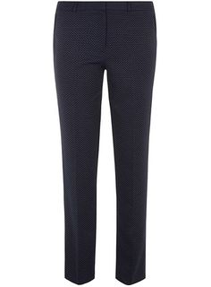 Navy mini spot trouser - Dorethy Perkins