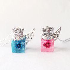 小さな天使のネックレス(ピンク)