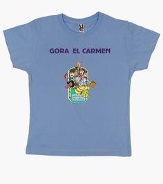 Camiseta niños azúl, Fiestas del Carmen, en 9 colorespor 19,90€
