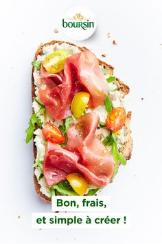 Tartine Jambon Cru et Tomates Cerises Brunch Recipes, Appetizer Recipes, Breakfast Recipes, Healthy Fish Tacos, Mango Salsa Recipes, Food Obsession, Food Design, Love Food, Easy Meals