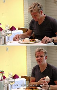 When he got served this rice boob. | 19 Times Gordon Ramsay Was Absolutely Iconic