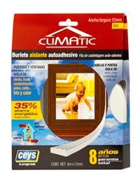 Burlete Autoadhesivo de Silicona universal indicado para el aislamiento de todo tipo de puertas y ventanas del frío, corrientes de aire, ruido, contaminación y calor