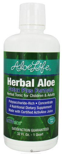 Herbal Aloe Detox - 32 oz - Liquid by Aloe Life. $27.85. Detox Plus Formula is more effective than other Detox formulas because the Whole Leaf Aloe Vera Juice carries the herbal extracts deep into the tissues supporting and stimulating the release of waste residue throughout the lymph system and liver. This formula is very effective containing Essiac formula herbs. Detox of the liver has provided help from skin conditions such as psoriasis and eczema, lymes disease, hepatitis ...