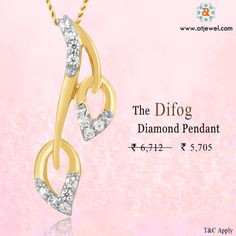 Design Of The Day.......... A Beautiful Difog Diamond Pendant just For @5705/- Be The Stylish. #Atjewel #Diamond #Pendant #Gold #Stylish http://www.atjewel.com/design-of-the-day