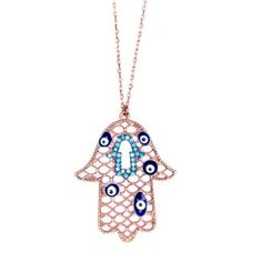 an amazing rose gold plated Hamsa necklace... LOVE!