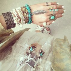 turquoise, ele's and feathers--- mhmm