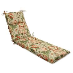 Found it at Wayfair - Botanical Glow Outdoor Chaise Lounge Cushion