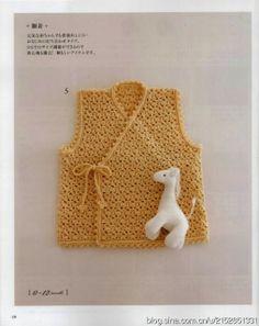 Crochê Tricô - Gráficos: Colete para Bebê em Crochê
