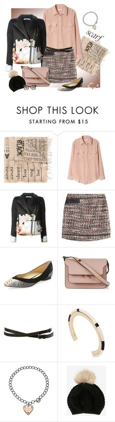 """""""It's a Wrap! Fun Fall Scarves"""" by ysmn-pan ❤ liked on Polyvore featuring Faliero Sarti, Equipment, Givenchy, Karl Lagerfeld, Alexandre Birman, Marni, Miss Selfridge, Isabel Marant, GUESS and Annabelle New York"""