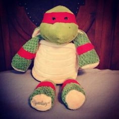 this is toooo CUTE! Dress up Scentsy Buddy Twiggy the Turtle as your kid's favorite Teenage Mutant Ninja Turtle! Turtle Love, Boys Room Decor, Christmas Crafts For Kids, Teenage Mutant Ninja Turtles, Animals For Kids, Scentsy, Dinosaur Stuffed Animal, Diy Crafts, Twiggy