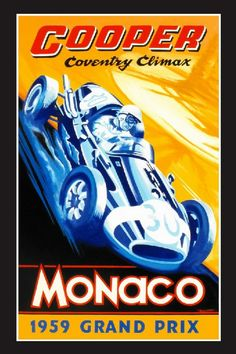 Cooper Coventry Climax and Monaco Grand Prix 1959 by Robert Carter