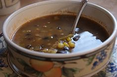 Daniel Fast - Taco Soup, Fruit Smoothies, and White Bean Chili