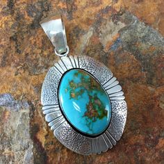 Royston Turquoise Sterling Silver Pendant