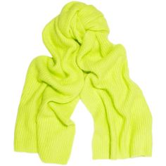 Bright Chartreuse (this Acne River ribbed angora-blend scarf would pop with a blue shift)