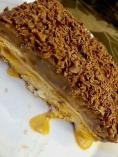 Γλυκάκι ψυγείου με κρέμες μπισκότα κ καραμέλα !!! ~ ΜΑΓΕΙΡΙΚΗ ΚΑΙ ΣΥΝΤΑΓΕΣ 2 Cake Recipes, Dessert Recipes, Desserts, Sandwiches, Pie, Sweets, Ethnic Recipes, Food, Candles