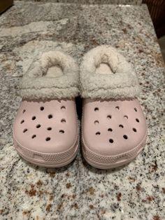9f5ec8a9e8af Crocs Little Girls Pink Fur Lined - Clog Winter Child Shoes SZ 8 9