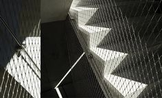 Staircase with safety nets