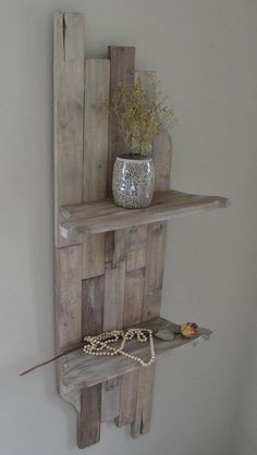 Wall Decor With Shelving by ArtisanWood11 on Etsy