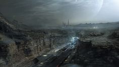 Landing field by Tibor Nadas | Matte Painting | 2D | CGSociety