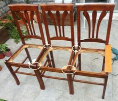 All photos and description gets from Design Of Furniture Hi, i want to share with you The bench making with your old chairs, i hope you will like my work. Let's Start;