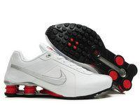 chaussures nike shox r4 homme (blanc/argent/rouge) pas cher en ligne