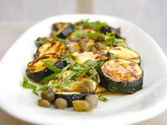 Grilled Zucchini with Capers, Basil and Lemon. Not sure how I could like all the ingredients, but not like it!