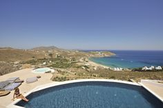 Villa Maera is a marvelous luxury villa in Mykonos with pool that offers the ultimate luxury Greek holiday experience ✨ Unique Architecture, Luxury Holidays, Luxury Villa, Mykonos, Seaside, Landscape, Villas, Places, Outdoor Decor