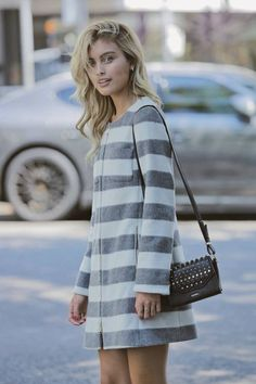 Sarah Ellen wears MAX&Co. coat and bag