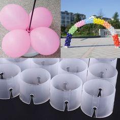 New Balloon Arch Folder Buckles Multiple Connect Ring Connectors - Balloon Decorations 🎈 Balloon Holders, Balloon Display, Balloon Backdrop, Balloon Columns, Balloon Garland, Ballon Arch Diy, Clear Balloons With Confetti, Bubble Balloons, Helium Balloons