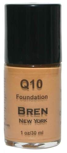 CoQ10 Foundation Shade Chestnut  Get an instant face-lift!  Contains Co-Enzyme Q10, an anti-aging ingredient that will minimize fine lines, smooth out wrinkles, and leave skin feeling youthful and luminous.. Provides a medium to full matte finish.  1 oz. Made in the USA $24.00