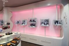 Susan's jaw dropped when she saw the pink theme of Angelo Brothers Jewelers.