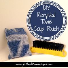 Pinterest Projects: #DIY #Recycled Towel Shower Scrubber Soap Pouch {Felt With Love Designs}