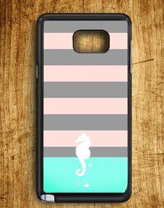 Line Art Sea Horse Samsung Galaxy Note 5 Case