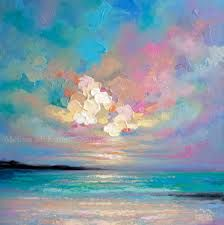 """""""Se Abrió, The Sky Opened"""" Acrylic Painting on Canvas Contemporary Canadian Abstract Landscape Artist Melissa McKinnon Sunrise Painting, Sky Painting, Abstract Landscape Painting, Painting Gallery, Acrylic Painting Canvas, Landscape Paintings, Oil Paintings, Landscapes, Ocean Paintings"""