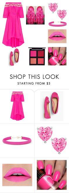 """""""Pink Equation"""" by melody-marvell ❤ liked on Polyvore featuring Peter Pilotto, Talbots and Kenneth Jay Lane"""