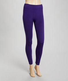 Look at this #zulilyfind! Purple High-Waist Leggings #zulilyfinds