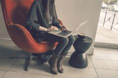 Woman on MacBook air by ZedProMedia on Creative Market