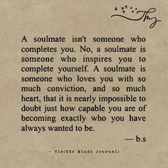 Just something to remember when writing romantic couples who are meant to truly 'belong together'.