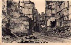 Après le bombardement de Saint Malo en Août 1944