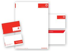 Stationery_by_prmlscrm Simple, neat, and clean. Stationary Branding, Stationery Design, Branding Design, International Red Cross, Letterhead, Business Cards, Bar Chart, Presentation, Design Inspiration