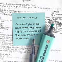 // this tip has been so important for me during my first year at med school where there is a HUGE amount of content to learn. Of course… Life Hacks For School, School Study Tips, School Tips, School Ideas, Vie Motivation, Study Motivation Quotes, Study Methods, Study Techniques, Study Organization
