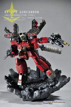 RX-77D Guncannon (Mass Production Type) - High Mobility Full Armor Custom by greenblue23