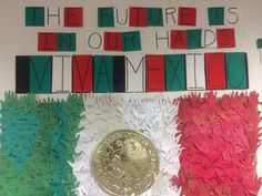 Mexican Independence Day bulletin board! Independence Day Drawing, Mexican Independence Day, World Bulletin Board, Bulletin Boards, Classroom Organization, Classroom Decor, Mexican Heritage, Hispanic Heritage Month, French Classroom