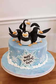 Penguin Birthday Custom | by Oakleaf Cakes