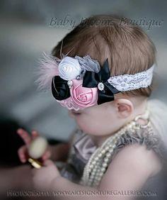 Baby Headband Girl Headband Pink satin by BabyBloomzBoutique, $12.95
